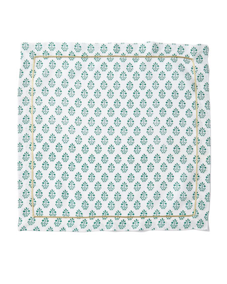 Printed Leaf Dinner Napkins, Set of 2
