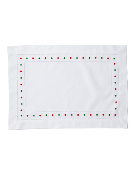 Holiday Dots Placemats, Set of 4