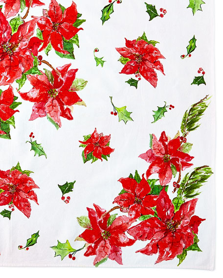 Poinsettia Breakfast Tablecloth