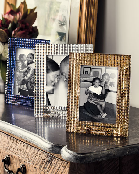 "Eye Crystal Picture Frame, Golden - 5"" x 7"""