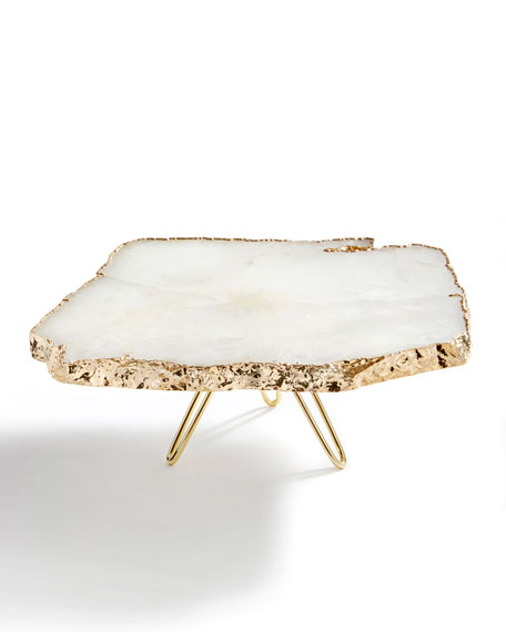 ANNA New York Torta Gold-Plated Cake Stand