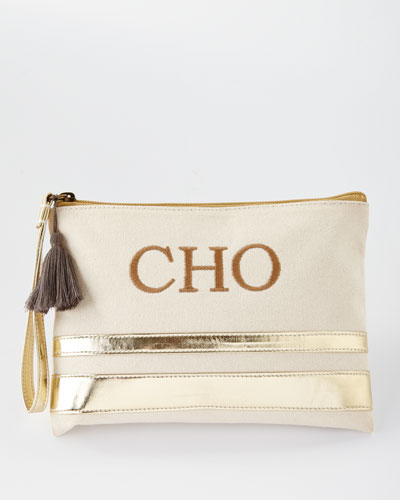 Ravenna Wristlet Pouch Bag, Metallic