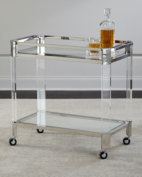 Maxima Stainless & Acrylic Bar Cart