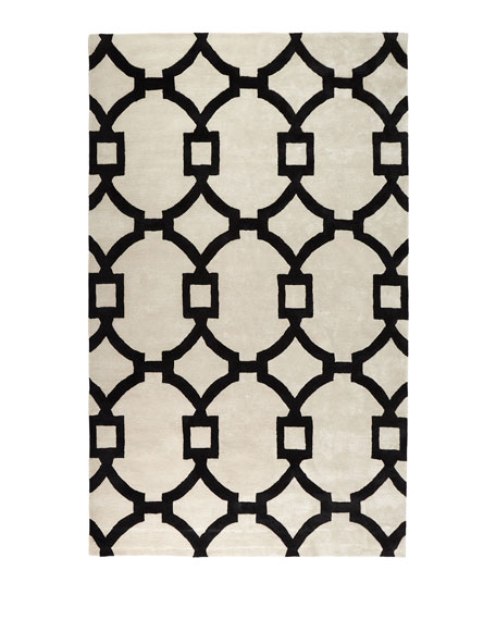 Trolley Hand-Tufted Rug, 5' x 8'