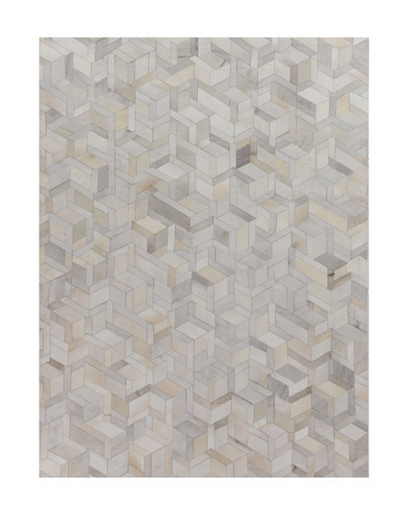Brielle Hairhide Hand-Stitched Rug, 5' x 8'