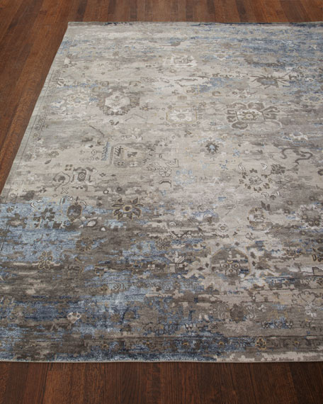 Mayley Vintage Hand-Knotted Rug, 4' x 6'