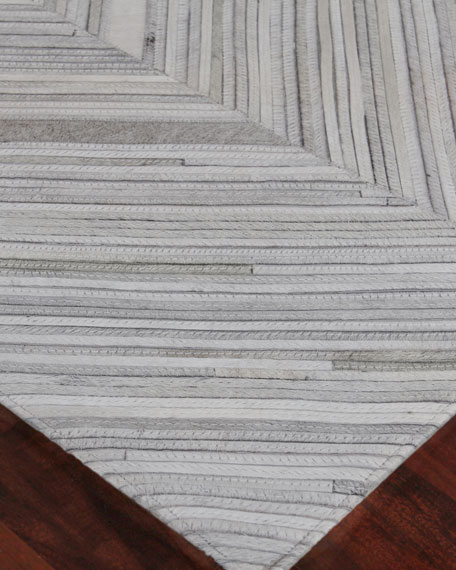 Bellamy Hand-Stitched Hairhide Rug, 8' x 11'