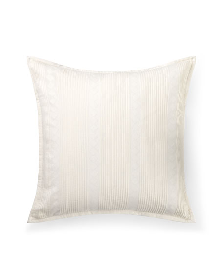 "Kelsey Pintucked Decorative Pillow, 18""Sq."