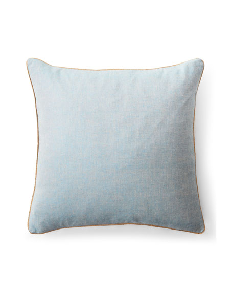 "Kelsey Cross-Dyed Weave Decorative Pillow, 20""Sq."