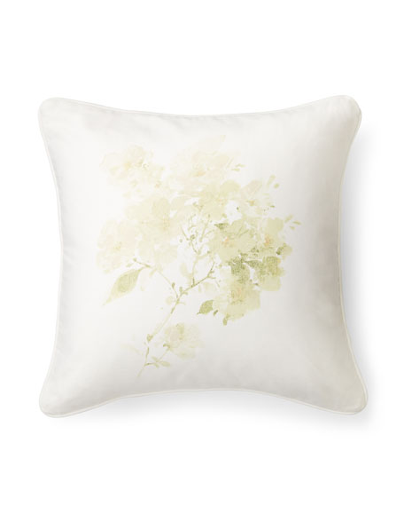 Lakeview Textured Floral Decorative Pillow, 18