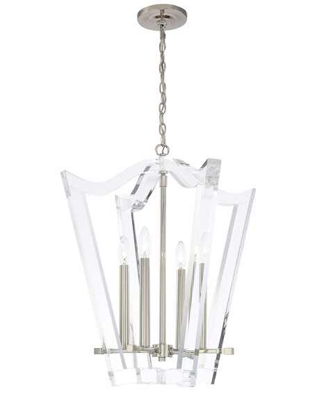 Drake 4-Light Polished Nickel Chandelier