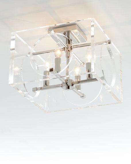 Drake 4-Light Polished Nickel Ceiling Mount