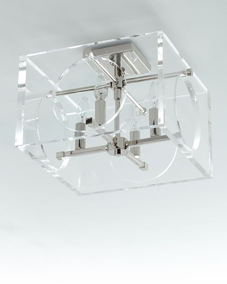 Drake 4-Light Polished Nickel Ceiling Mount