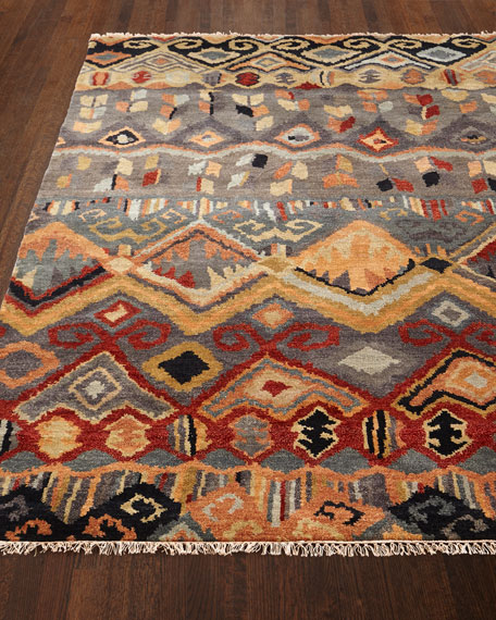 "Noam Earth Hand-Knotted Runner, 2'6"" x 10"""