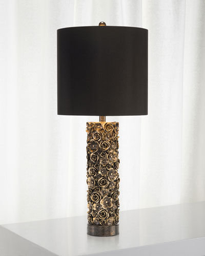 Distressed Bloom Table Lamp