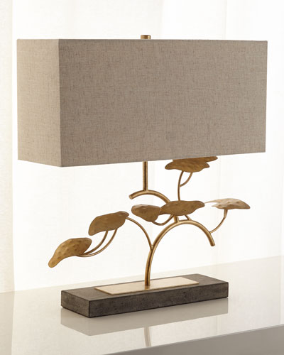 Gold Leaf Tree Table Lamp