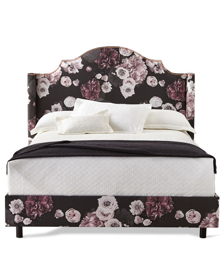 Carmen Floral Icy Queen Bed