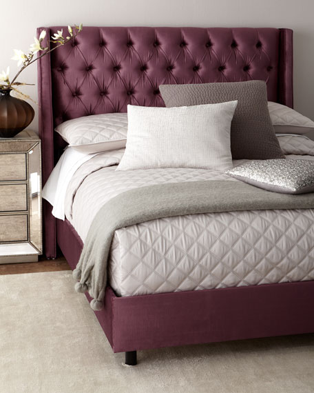 blair upholstered tufted wingback california king bed - California King Bed Sheets