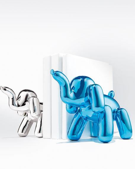 Chrome Balloon Elephant, Silver