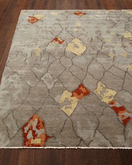 Abda Hand-Knotted Rug, 4' x 6'