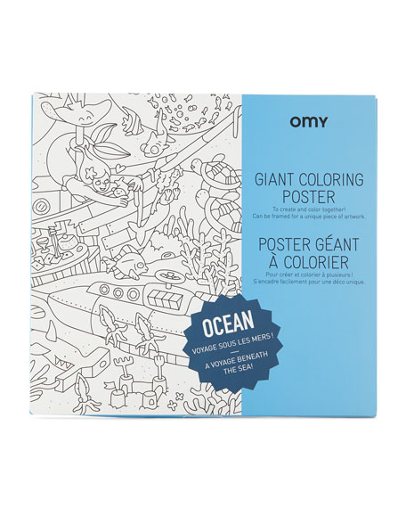 OCEAN Giant Coloring Poster