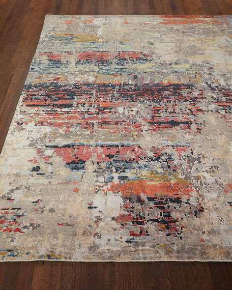 Lhasa Sunset Hand-Knotted Rug, 4' x 6'