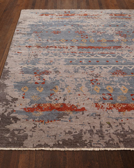 "Daisa Clay Hand-Knotted Runner 2'6"" x 10'"