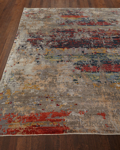 Lhasa Sunset Hand-Knotted Rug, 6' x 9'