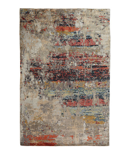 Lhasa Sunset Hand-Knotted Rug, 10' x 14'
