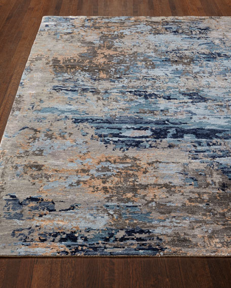 Lhasa Bamboo Hand-Knotted Rug, 6' x 9'