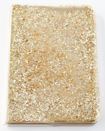 Star and Moons Glitter Notebook, Gold