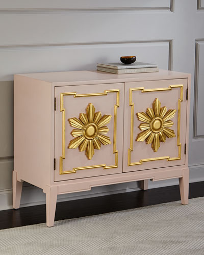 Tomi Gold Leaf Star Cabinet