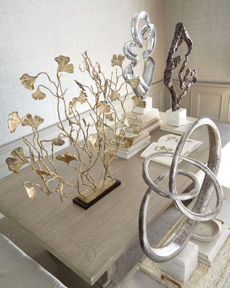 Freeform Aluminum & Marble Sculpture