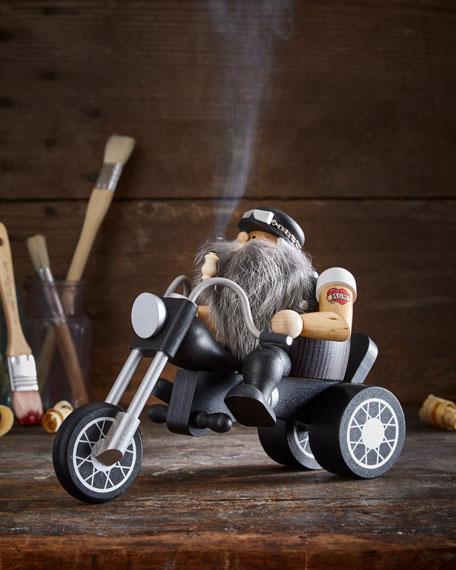 Biker Santa Smoker Figurine