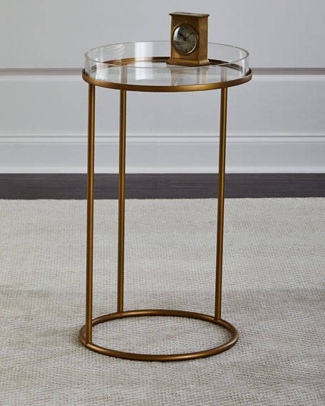 Superieur Thylane Acrylic Top Side Table