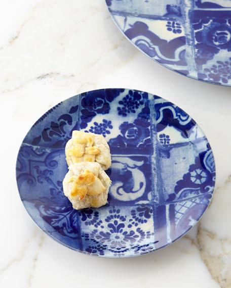 Blue Tile Salad Plates, Set of 4