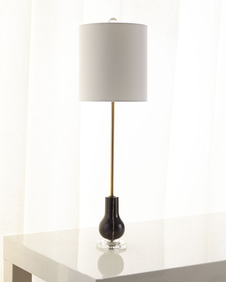 Monroe Marble and Brass Buffet Lamp