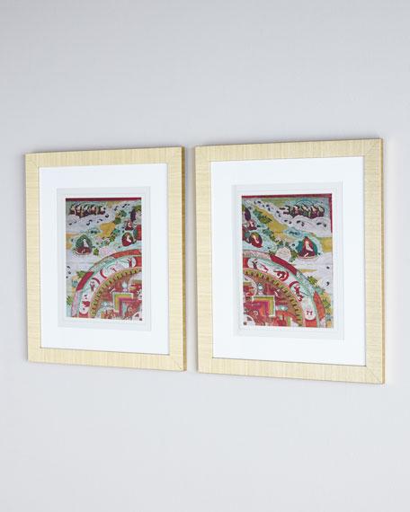 """""""Antiquity I and II"""" Framed Art Set"""