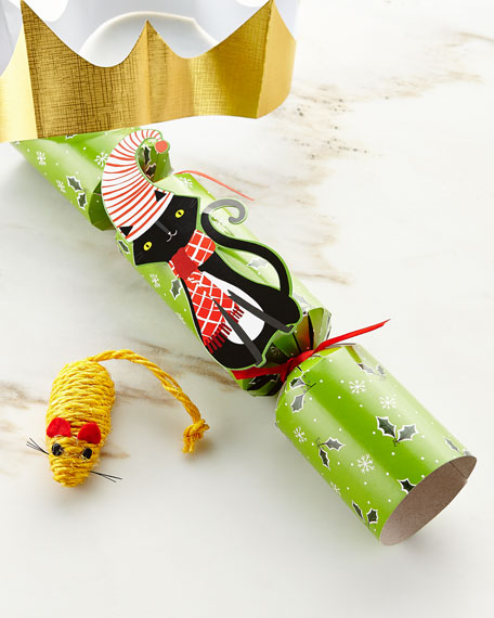 Whimsy Cat Toy Christmas Cracker, Each