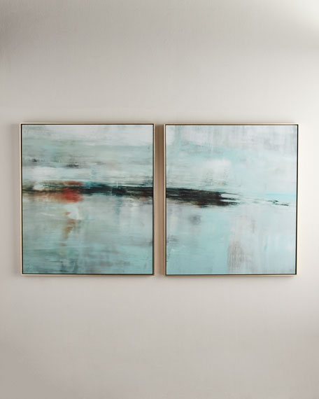 Deep Horizon Giclée Vertical, Set of 2