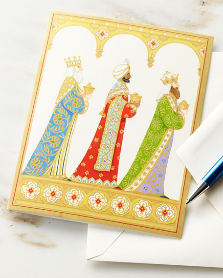 Three Kings Printed Cards with Envelopes, Set of 16