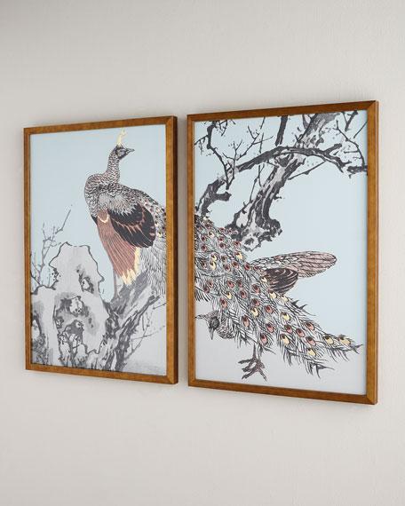 Gilded Bird Diptych