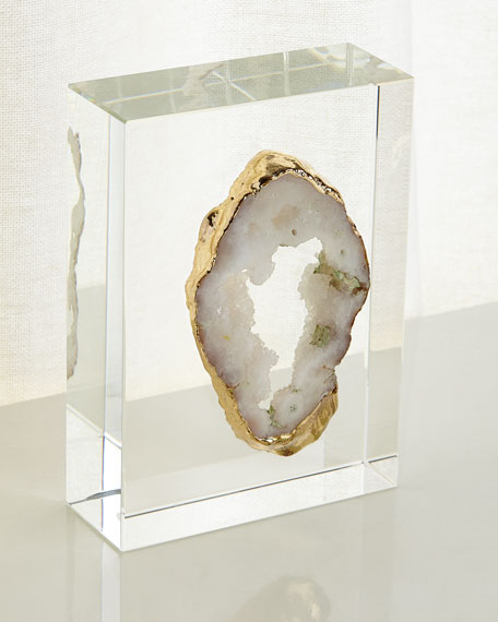 White Geode on Crystal