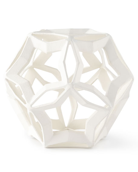Large Geometric Star, White