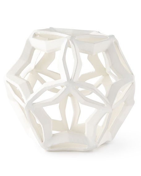 Medium Geometric Star, White