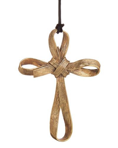 Palm Cross Christmas Ornament