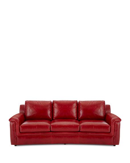 Ruby Leather Sofa