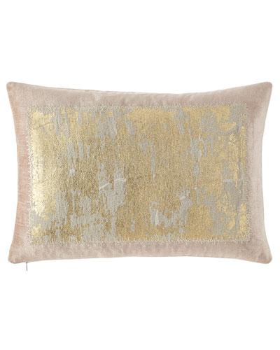 Distressed Metallic Lace Pillow, 14