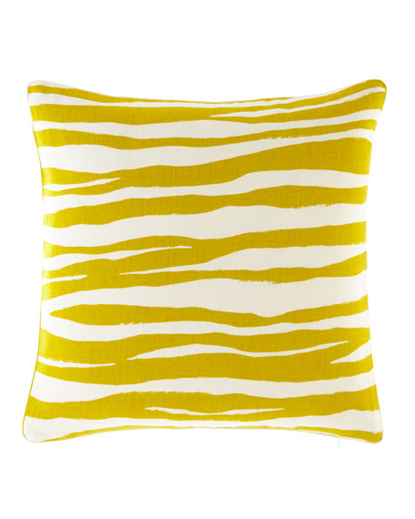 "Mona Zebra Pillow, 20""Sq."
