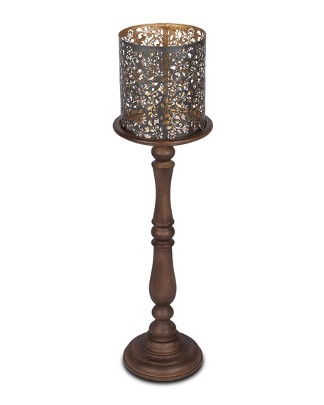 "Wooden Candle Holder, 35""T"